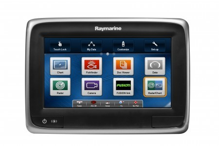 Raymarine a75 Multifunktionsdisplay mit WIFI und C-MAP EU-Karte
