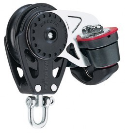 Harken 75mm Carbo Block mit Cam-Matic Curryklemme