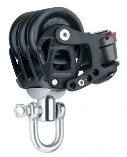 Harken 45mm Element Dreifachblock mit Cam-Matic