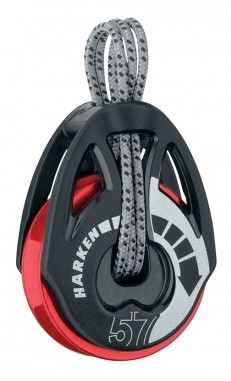 Harken 57mm Carbo T2 Ratchamatic Block - Red Sheave
